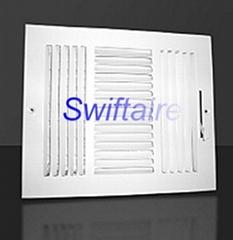 Ceiling / Sidewall 3 Way Register