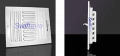 3 Way Curve Blade Ceiling / Sidewall Register