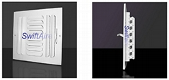4 Way Curve Blade Ceiling / Sidewall Register