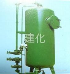 立式碳鋼活性炭過濾器,活性炭高效水過濾設備,活性碳污水淨化過濾器