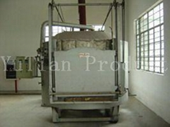 Roasting furnace and wax-cleaning unit for investment casting