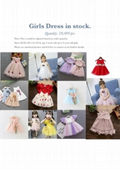 Girl Dress in stock