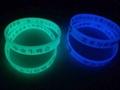 硅膠手鐲  定製硅膠手環 硅膠手鏈 硅膠飾品 發光腕帶 1