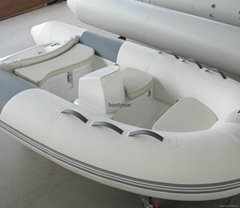 small Rib boat with console