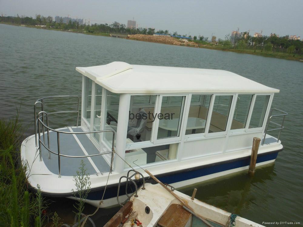 Pontoon boat catamaran boat 2