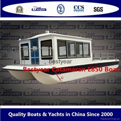 Pontoon boat catamaran boat