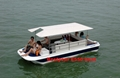 Pontoon boat catamaran boat 3