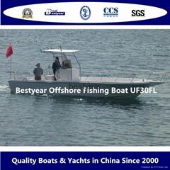 Fishman boat fishing boat UF30FLcc offshore boat