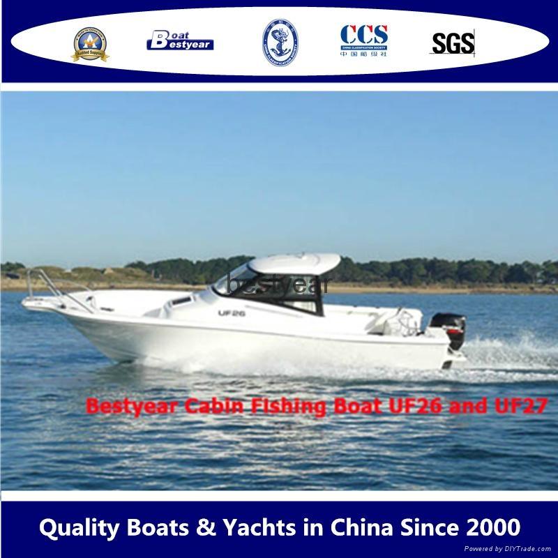 2015 model Fishing boat UF27FL and UF30FL cabin outboard fishing boat 1