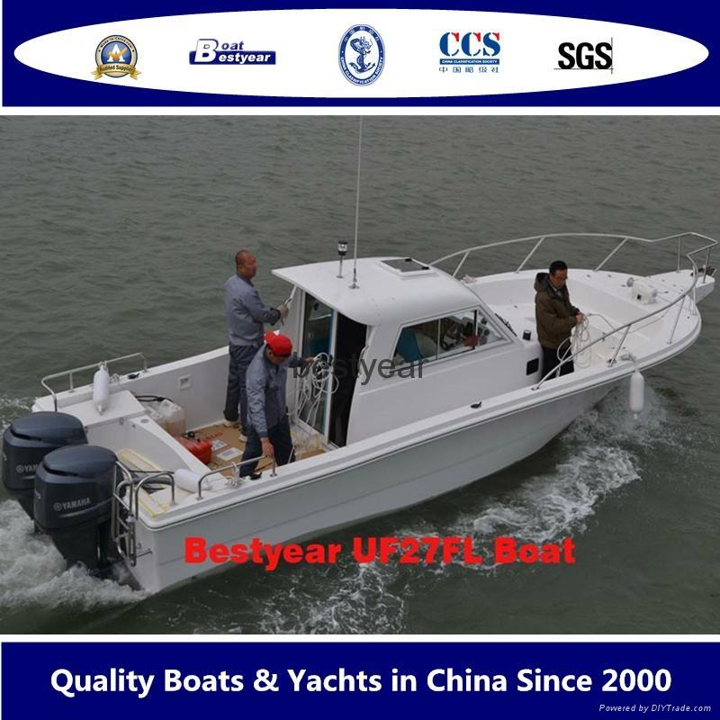 2015 model Fishing boat UF27FL and UF30FL cabin outboard fishing boat 2