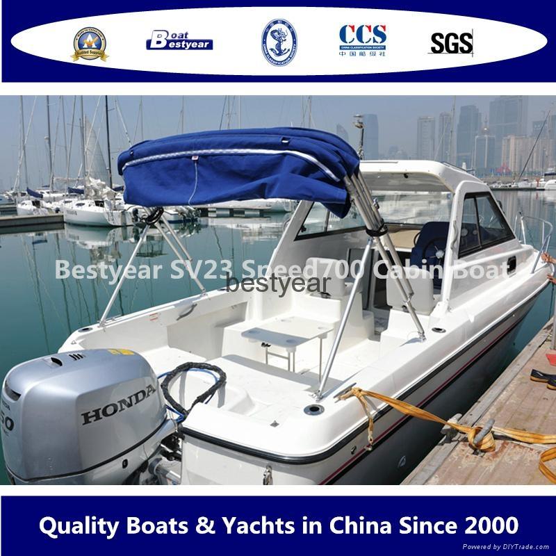 Fiberglass SRV23 speed 700 cabin boat 2