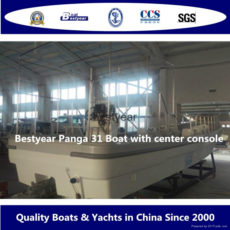 Commercial fishing boat Panga31with center console 2