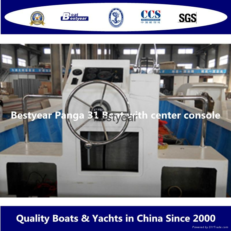 Commercial fishing boat Panga31with center console 3