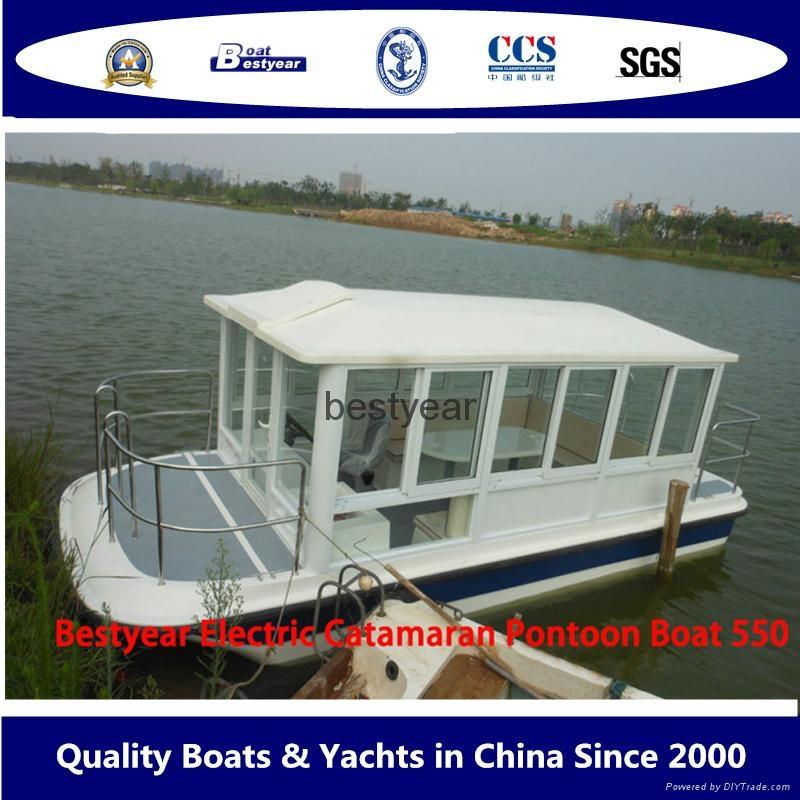 Catamaran e550 boat house boat