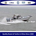 Large panga 35 fishing boat