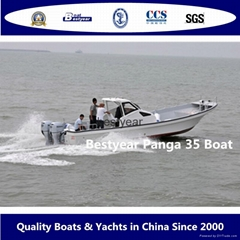 Large panga 35 fishing boat