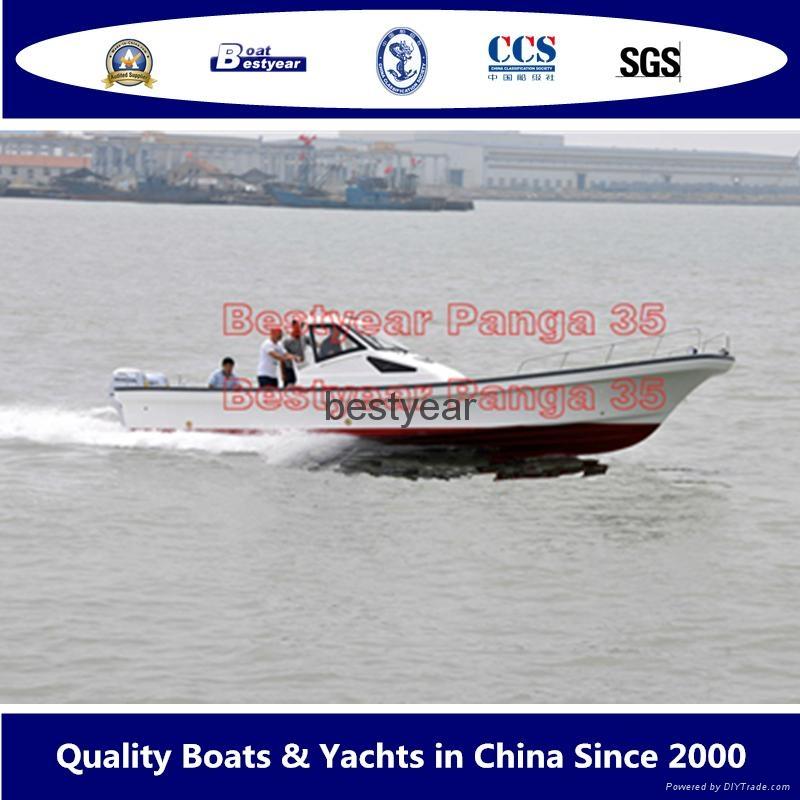 Large panga 35 fishing boat 4
