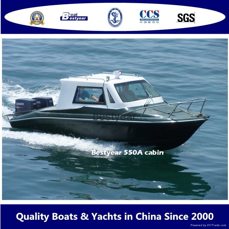 Speed550A cabin hardtop boat 1