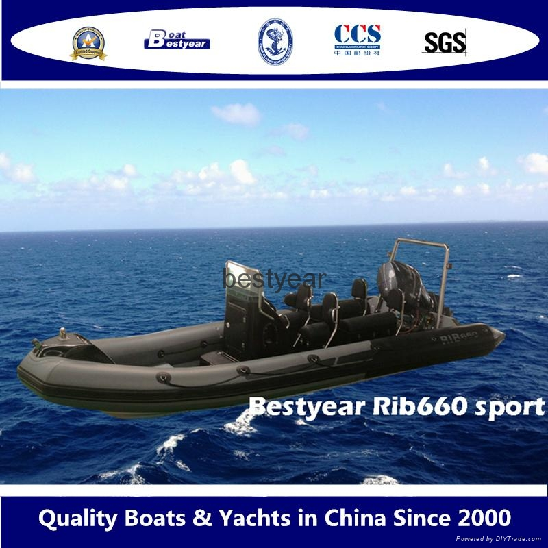 Rib660 sport boat 1