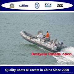 2014 model Rib680 open boat