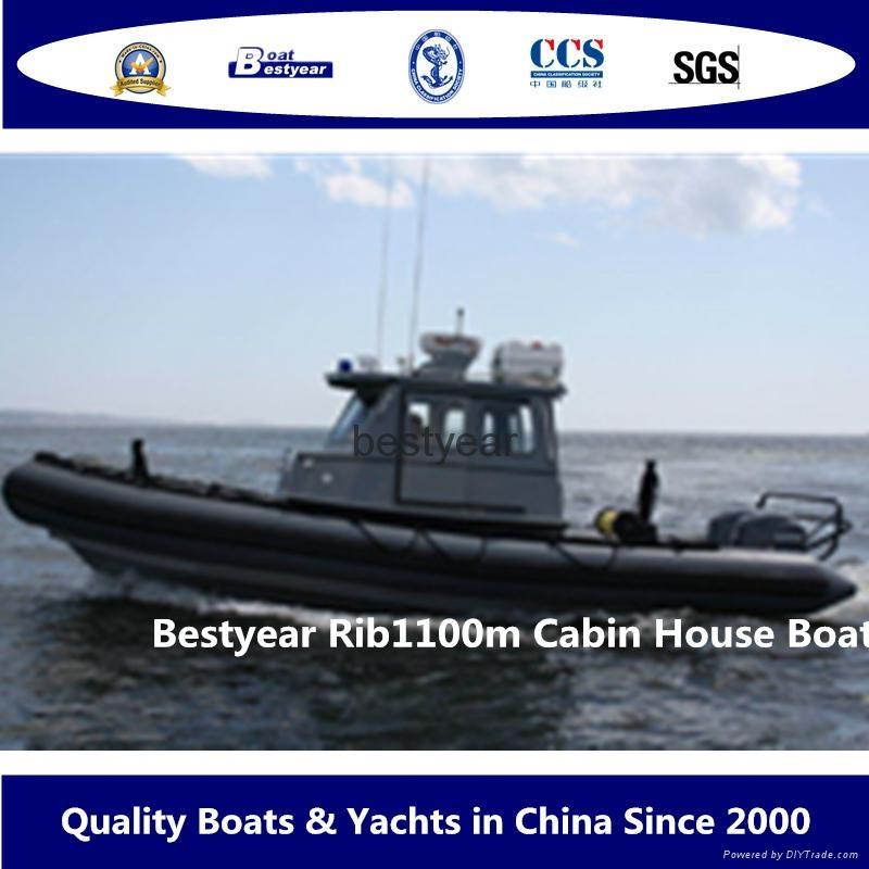Rib1100 cabin boat 1