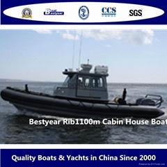 Rib1100 cabin boat