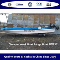 Cheaper Panga fishing boat work boat SW23C