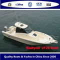 UF26 open and Cabin boat