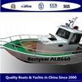 Aluminum pilot house fishing boat:ALB680