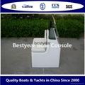 Fiberglass boat console and seat