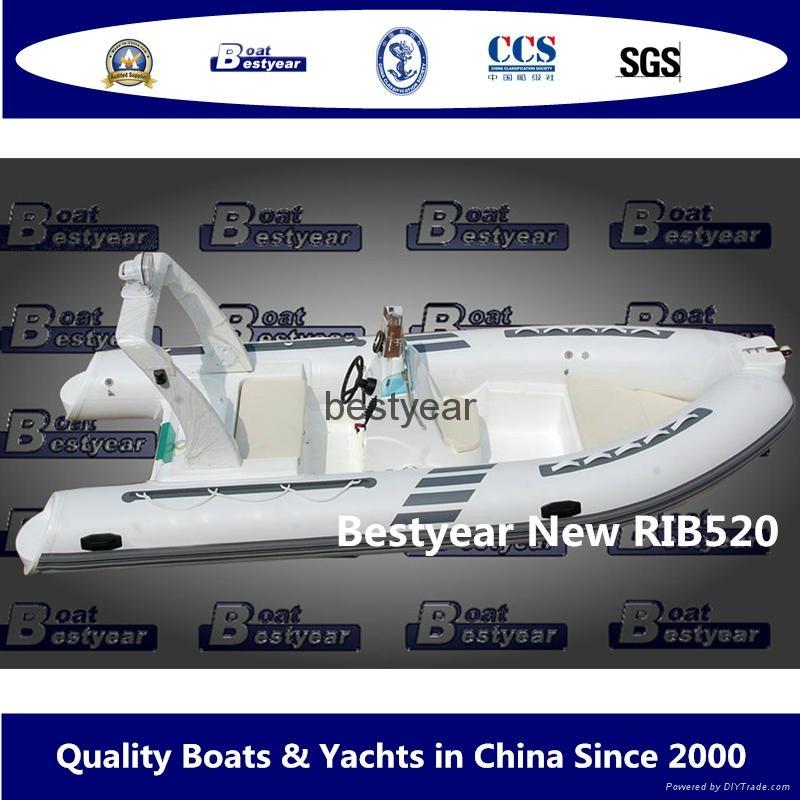 Rib520C deep V hull boat 1