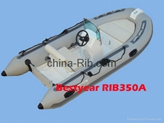 Rigid hull inflatable bo