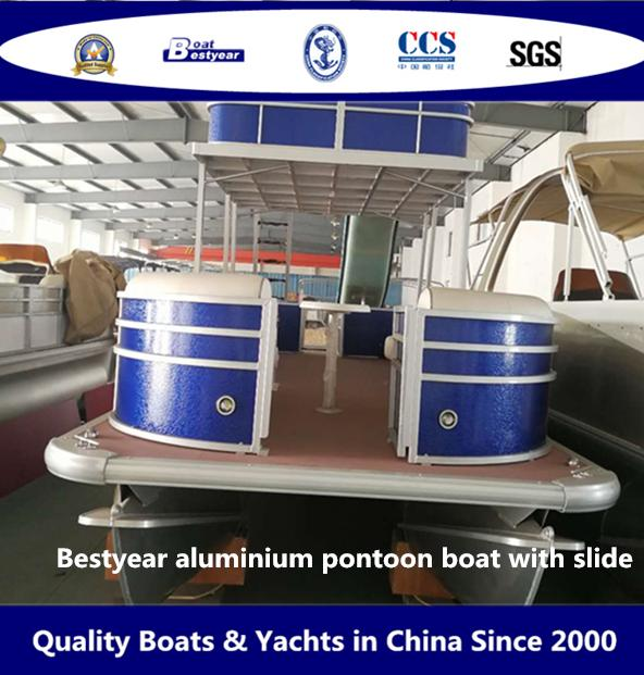 Bestyear Aluminium Pontoon Boat with Slide