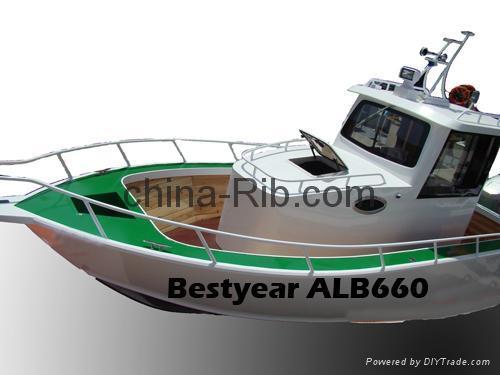 Aluminum pilot house fishing boat alb680 alb660 china for Pilot house fishing boats