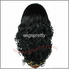 100% human hair big bottom curl full lace wig