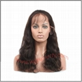 100% indian remy hair body wave full lace wig 2