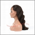 100% indian remy hair body wave full lace wig 3