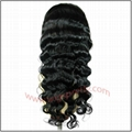 100% indian remy hair deep body wave full lace wig 2