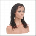 100% indian remy hair deep curl full lace wig 2