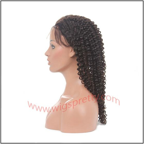 100% indian remy hair deep curl full lace wig 3