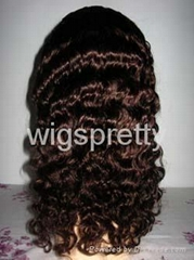 100%human hair Full lace wigs