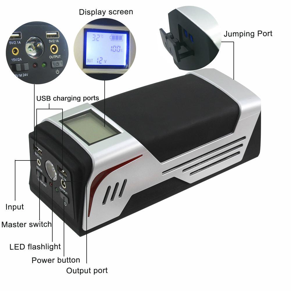 Emergency Multi-function Car Jump Starter for 12/24V diesel & petrol car 6