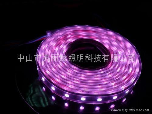 LED貼片燈帶七彩跑動戶外防水燈條IP65 1
