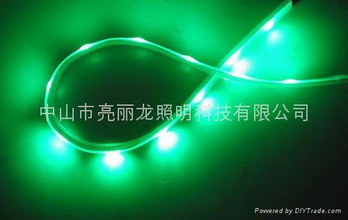 LED貼片燈帶七彩跑動戶外防水燈條IP65 3