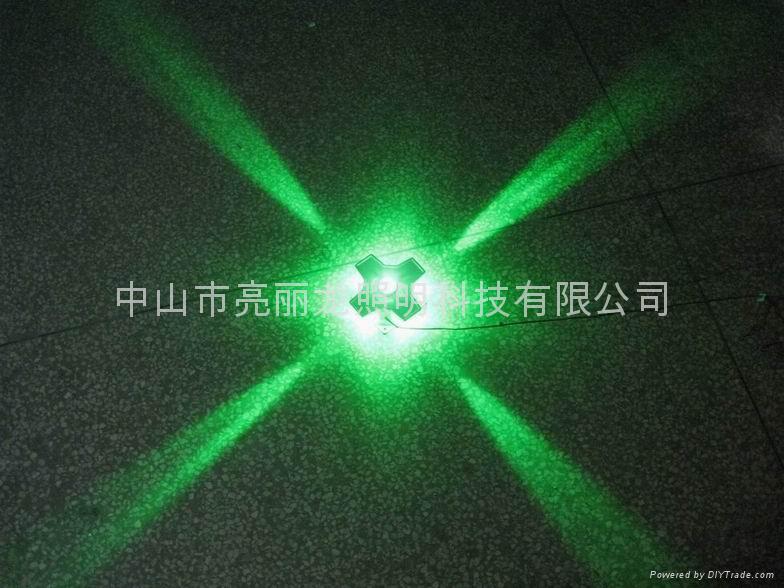 LED十字星光燈戶外牆壁燈寫字樓宇裝飾燈四面發光投射燈 2