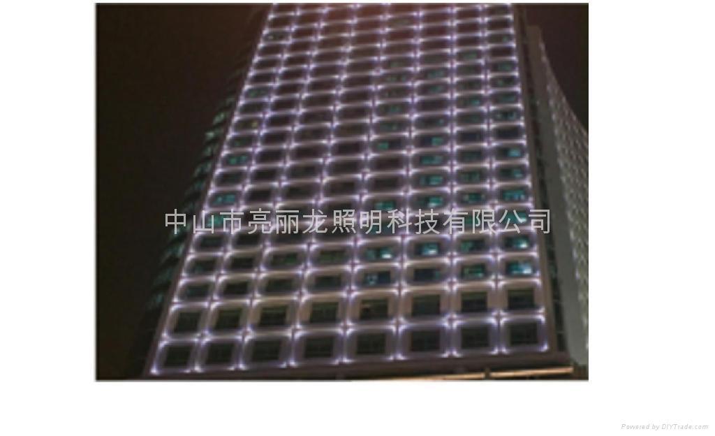 LED十字星光燈戶外牆壁燈寫字樓宇裝飾燈四面發光投射燈 4