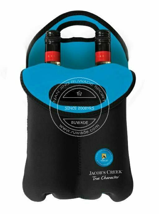 Neoprene wine can bottle cooler holder tote,2 pack,6 pack 2