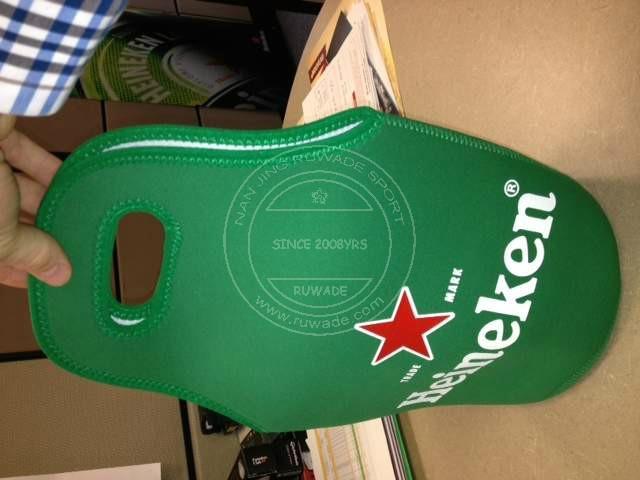 Neoprene wine can bottle cooler holder tote,2 pack,6 pack 4