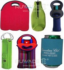 Neoprene wine can bottle cooler holder tote,2 pack,6 pack