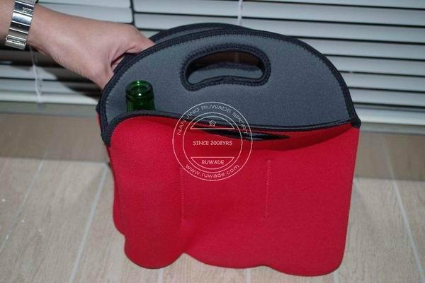Neoprene wine can bottle cooler holder tote,2 pack,6 pack 5